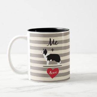 Yo más la taza del Dos-Tono del amor del igual del