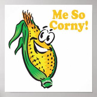 Yo mazorca de maíz TAN sensiblera Póster