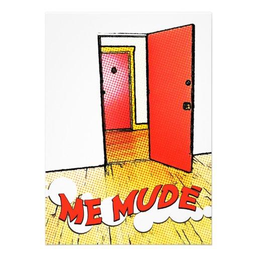 yo mudé: cómica del puerta invitaciones personales