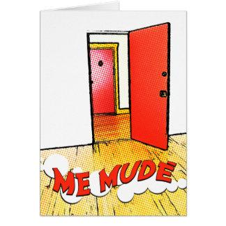 yo mudé: cómica del puerta tarjeta pequeña