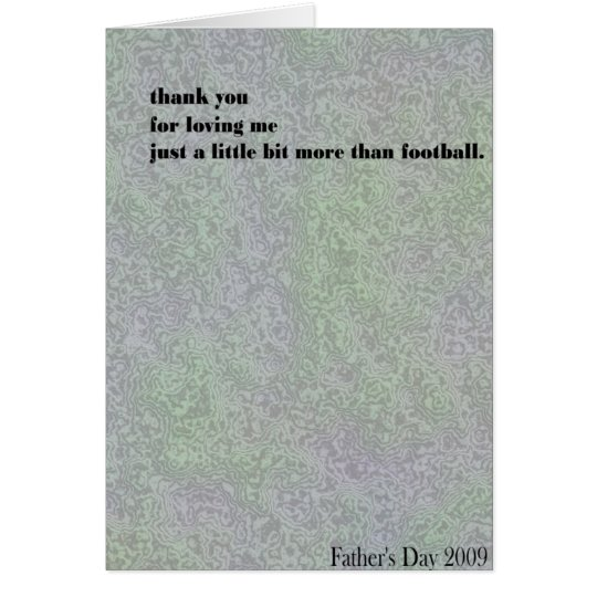 ¿yo o fútbol? tarjeta de felicitación