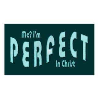 ¿Yo? Soy. los .in perfectos Cristo - Heb10: 14 de  Plantilla De Tarjeta De Negocio