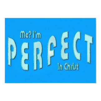 ¿Yo? Soy perfecto… en Cristo - 10:14 de los Invitación 12,7 X 17,8 Cm