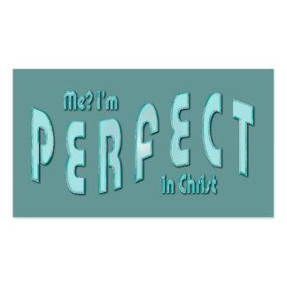 ¿Yo? Soy perfecto… en tarjetas de la zona del Tarjetas De Visita