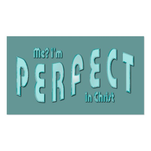 ¿Yo? Soy perfecto… en tarjetas de la zona del Tarjetas Personales