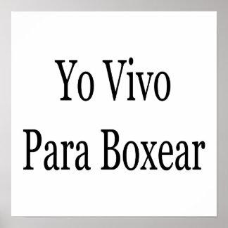Yo Vivo Para Boxear Impresiones