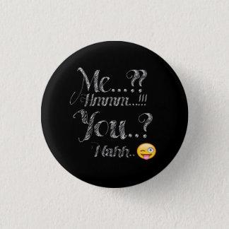 Yo y usted botón divertido