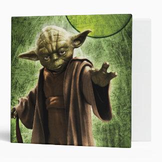 Yoda A que brilla intensamente Carpeta 5 Cm