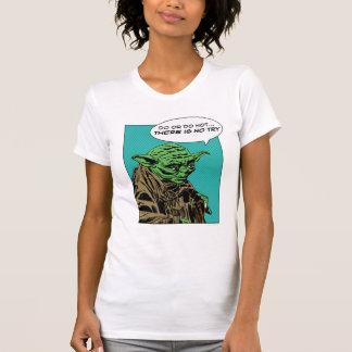 Yoda cómico camiseta