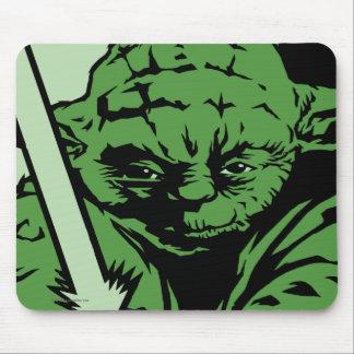 Yoda Lightsaber Alfombrilla De Ratón