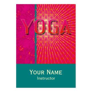 Yoga 1 - Negocio, tarjeta del horario Tarjetas De Visita Grandes
