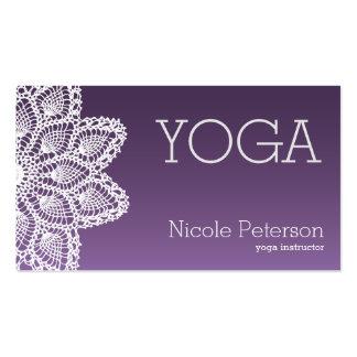 Yoga blanca del cordón tarjetas de visita