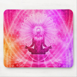 Yoga colorida del espiritual de la meditación alfombrilla de ratón