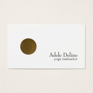 Yoga de cobre blanca limpia minimalista del tarjeta de negocios