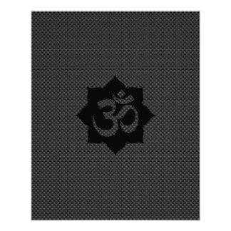 Yoga de la espiritualidad de Lotus del símbolo de Folleto 11,4 X 14,2 Cm