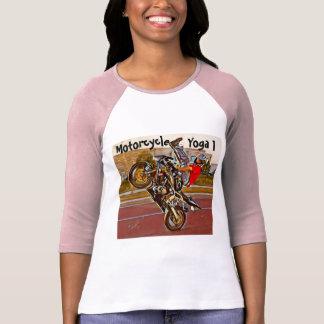 Yoga de la motocicleta 3/4 camiseta de la manga