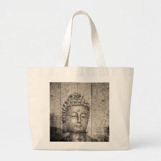 Yoga del Buddhism de Buda del vintage Bolsa De Tela Grande
