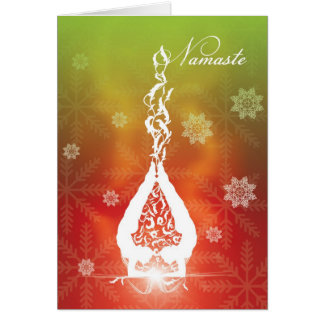 Yoga del navidad de la tarjeta