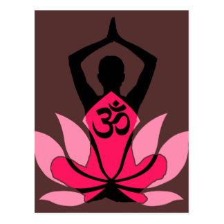 Yoga espiritual de la flor de OM Namaste Lotus en Postal