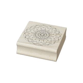 Yoga floral de la mandala de la flor de los sello de caucho