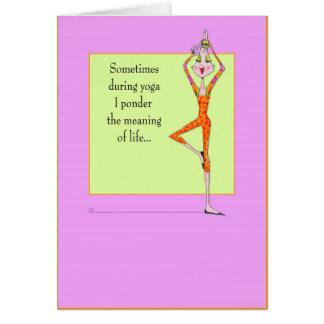 Yoga que reflexiona actitud tarjeta de felicitación