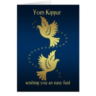 Yom Kipur - palomas del efecto del oro Tarjeta De Felicitación