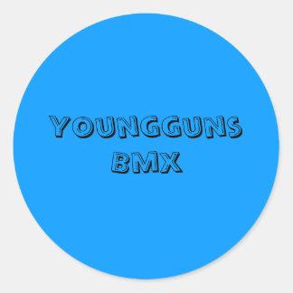 Youngguns Bmx Pegatina Redonda