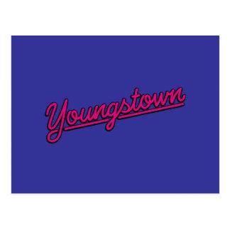 Youngstown en magenta postal