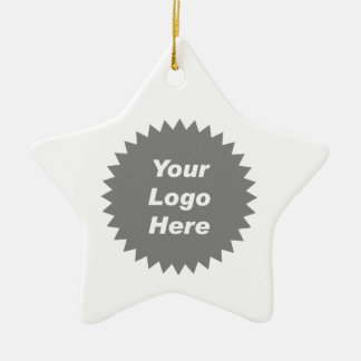 Your business logo here promo christmas ornament