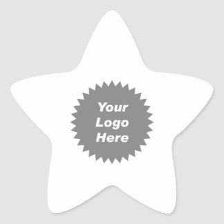 Your business logo here promo star stickers