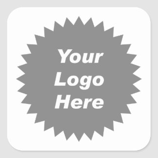 Your business logo here promo stickers