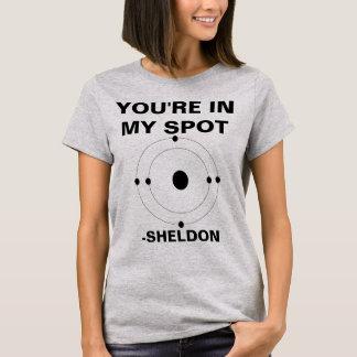 Your'e en mi camisa de Sheldon del punto
