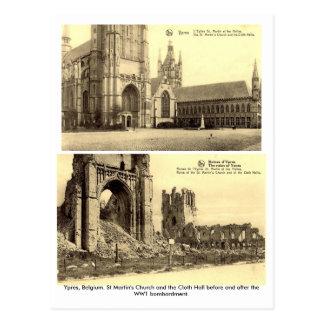 Ypres, Bélgica - postales del bombardeo WW1