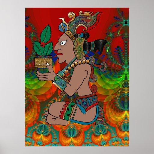 Yucatán Mexicano psicodélico Visiones Posters