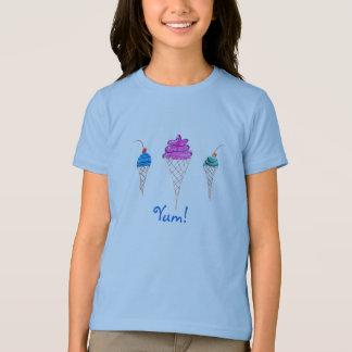 Yum diseño 1 del helado de la serie camisetas