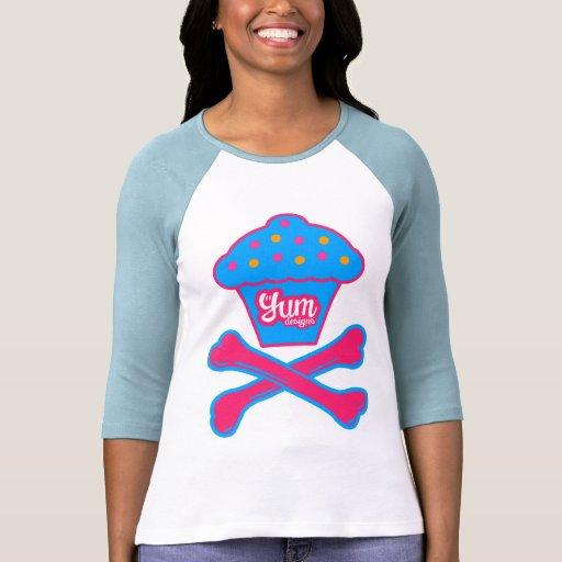 Yum la camisa de las mujeres de la torta