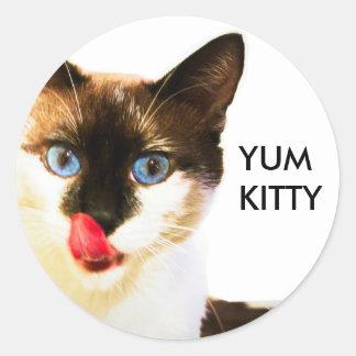 Yum pegatina del gatito