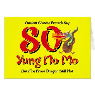 Yung ningún 80.o cumpleaños del MES Tarjeta De Felicitación