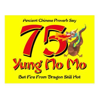 Yung ninguna 75.a invitación de la postal del