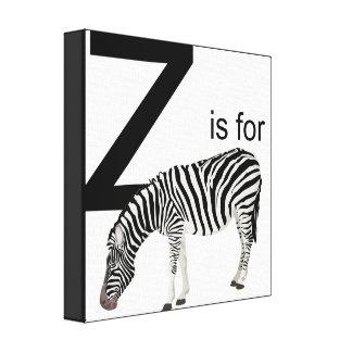 Z está para la cebra Cavas Lienzo