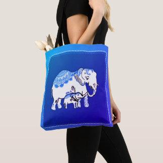 Zafiro adornado de los elefantes y la bolsa de