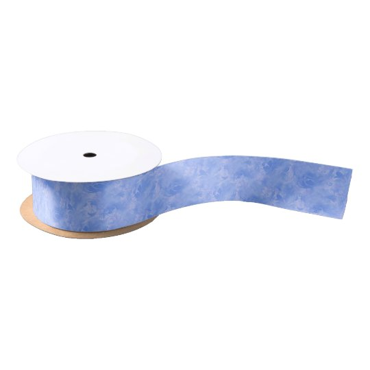 Zafiro sutil del azul del invierno de la lazo de raso