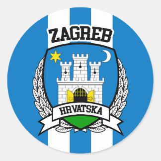Zagreb Pegatina Redonda