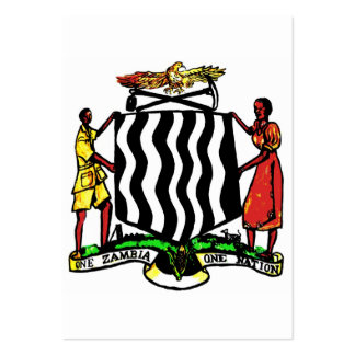 Zambia, África, escudo de armas Tarjetas De Negocios