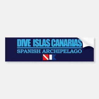 Zambullida Islas Canarias Pegatina Para Coche