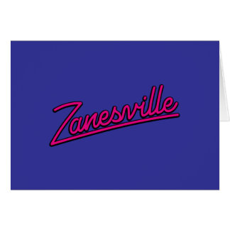 Zanesville en magenta tarjeton