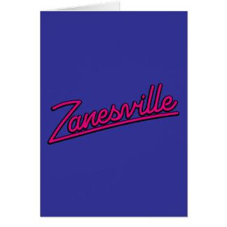 Zanesville en magenta felicitacion