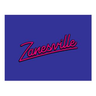 Zanesville en magenta postales