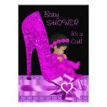 Zapato afroamericano de la púrpura del rosa del ch invitacion personal