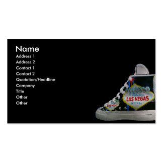 Zapato de Las Vegas Plantilla De Tarjeta De Visita